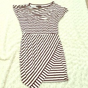 White House Black Market stripe scoop neck dress